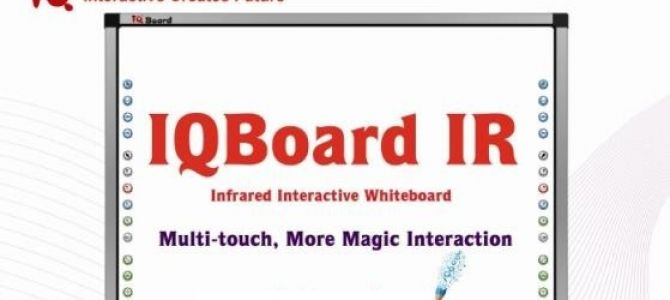 IQBoard is touch sensitive premium board is probably the best board on the market. Dry Wipe markers can be used and the accuracy of control is leading edge. The software outperforms many of the leading boards.