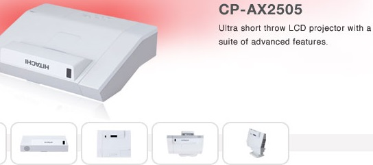 Hitachi CP-AX2505 Ultra Short Throw Projector